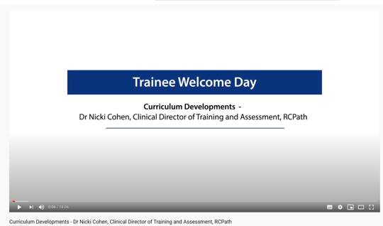 Curriculum Developments - Dr Nicki Cohen, Clinical Director of Training and Assessment