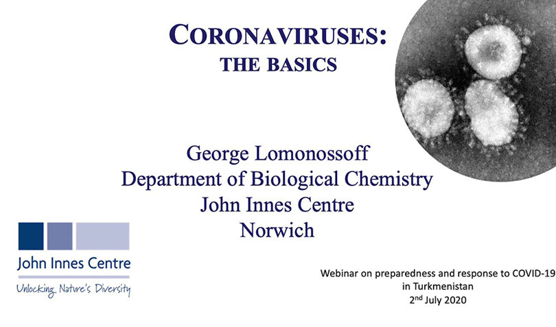 Coronaviruses: The Basics - presented by Professor George Lomonossoff