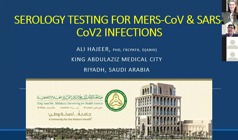 Serology Testing for MERS and SARS-COV2 Infections, Professor Ali Hajeer, Laboratory Director, King Abdulaziz Medical City