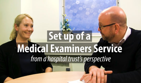 Setting up a medical examiners system