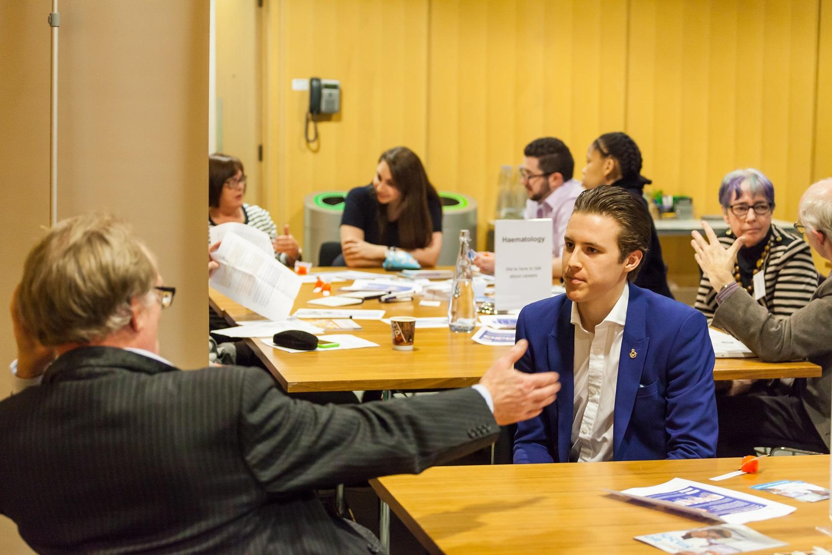 The networking room at Careers and Ideas